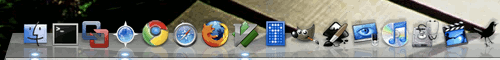 Google Chrome in the Mac OS X dock