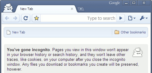 Google Chrome's Incognito mode