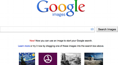 Now you can use an image to start your Google search