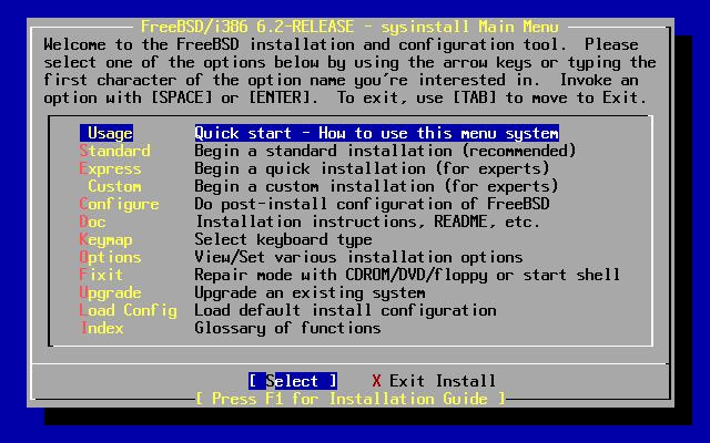FreeBSD 6.2 Installer