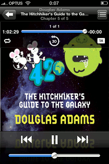 Hitchhikers Guide to the Galaxy on Audible!