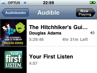 Audible on the iPhone