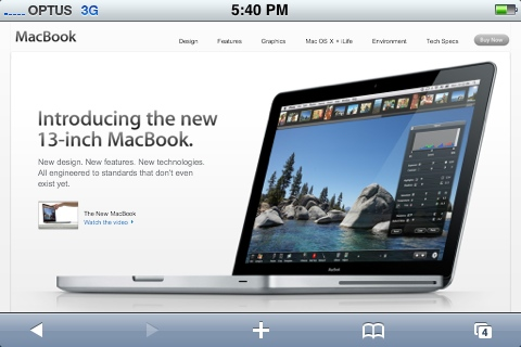 New MacBook homepage from my iPhone this afternoon