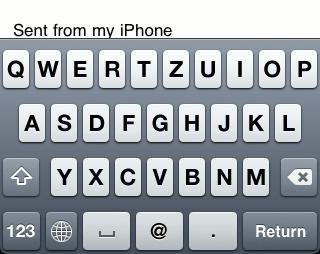 iPhone 3G keyboard
