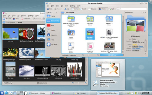 Screenshot of KDE 4.4