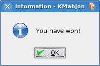 Kmahjongg: You have won!