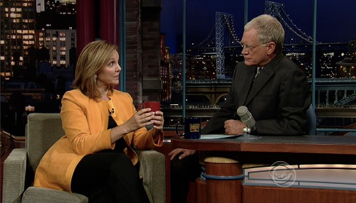 Josette Sheeran from the World Food Programme on the Late Show with David Letterman