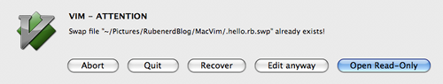 Mac-like error message