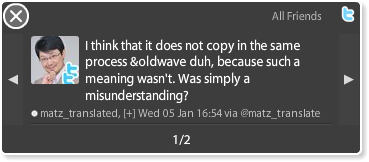 I think that it does not copy in the same process oldwave duh, because such a meaning wasn't. Was simply a misunderstanding?