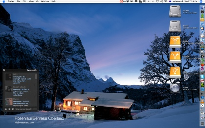 Swiss desktop background on my MacBook Pro