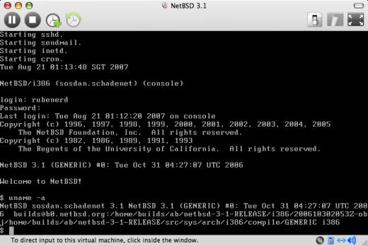 A fresh NetBSD install