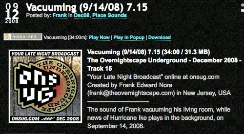 The Overnightscape Underground vacuuming episode!