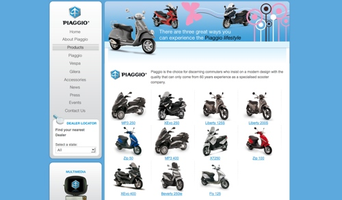 The Aussie Piaggio website