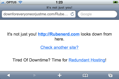 SegPub outage, 2010.03.18 01.17