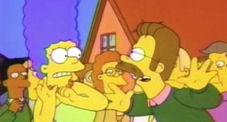 I can't live in good intentions, Marge!