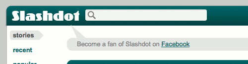 Become a fan of Slashdot on Facebook