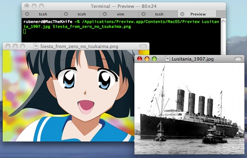 Viewing images from the Terminal in Mac OS X