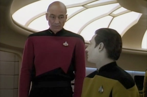 Picard and Data from Star Trek: The Next Generation