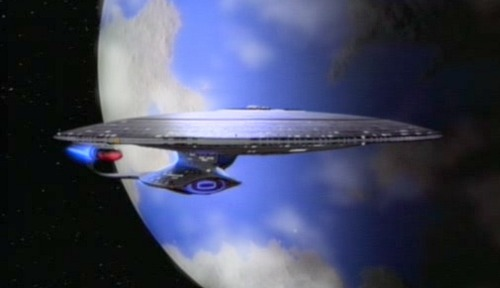 The Enterprise-D from Star Trek: The Next Generation