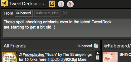 TweetDeck artefacts