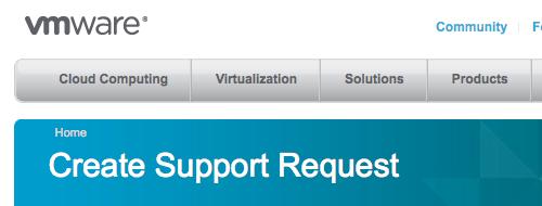 VMware Support banner