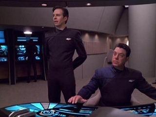 Crew from the USS Relativity, a timeship from Star Trek
