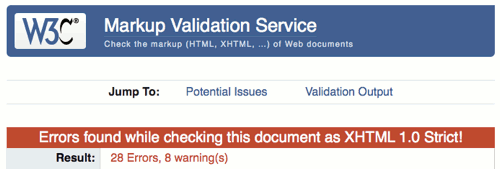 An automatically posted Clipmarks blog entry failing validation…