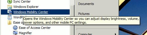 Windows 7's start menu