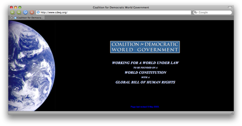 Coalition for Democratic World Government