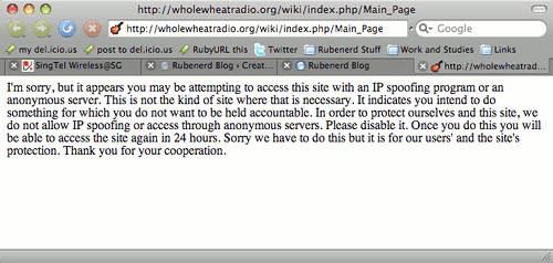 Whole Wheat Radio IP address error