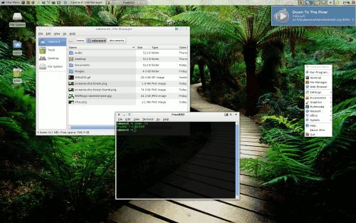 My FreeBSD Xfce 4.4.2 desktop!