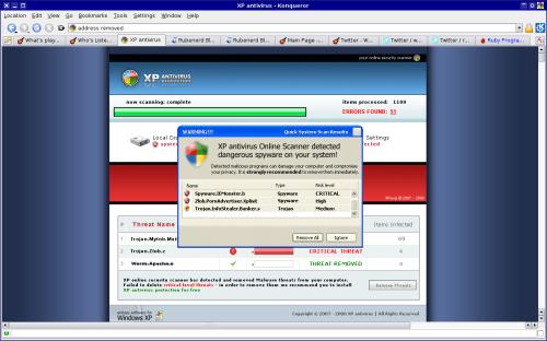 Really dodgy fake Windows virus scanner