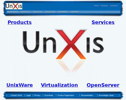 Screenshot from the UNXIS website.