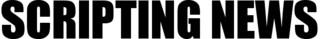 Scripting News logo, 2008