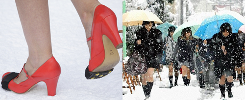 Photo of emergency snow high heel shoes?