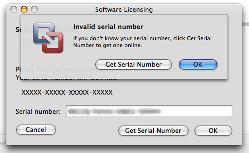 VMware invalid serial number